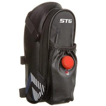 127270 2 350x350 - Велосумка STG131396 под седло ,с карманом ( сетчатым) для фляги, с красным фонарем сзади,1-о отделен