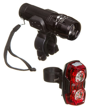 127285 2 350x350 - Комплект фонарей STG перед. FL1203 (1 бел. Диод 3 ватт, аллюм корпус, 3*ААА в компл. Не вход) зад.