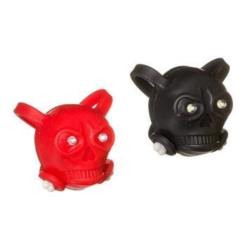 127286 2 350x350 - Комплект фонарей STG -TL8005 силикон.черепа, Черный с белыми диодами, красный с красными диодами ( 2