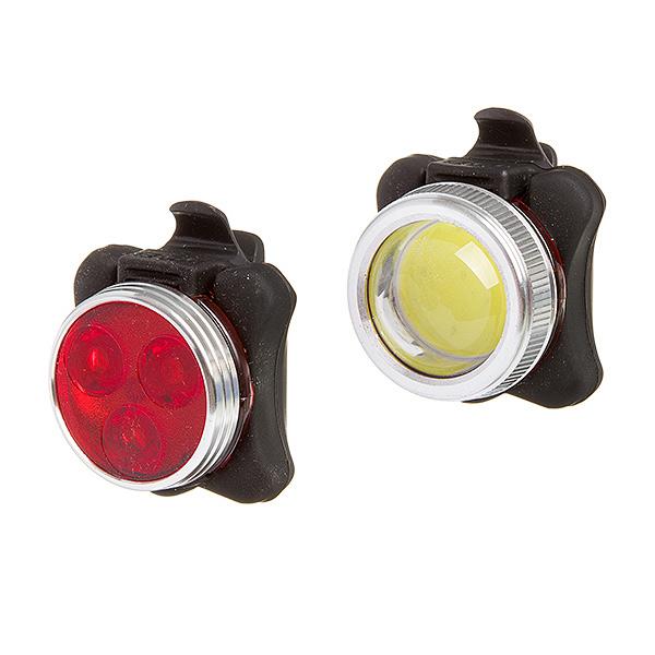 127289 2 - Комплект фонарей STG перед. TL5402C (200 люм. бел. Usb 500 mAH.) зад.  TL5402 ( 3 красн. Диод. 0,5 в