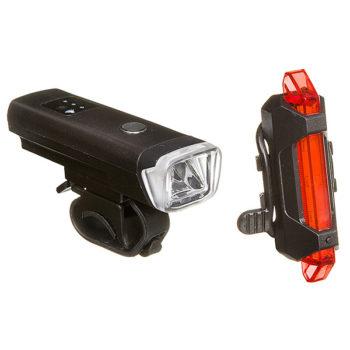 127292 2 350x350 - Комплект фонарей STG перед. FL1559 (350 люм. бел. Usb 2000 mAH. С датчиком света ) зад.  TL5411 ( 5