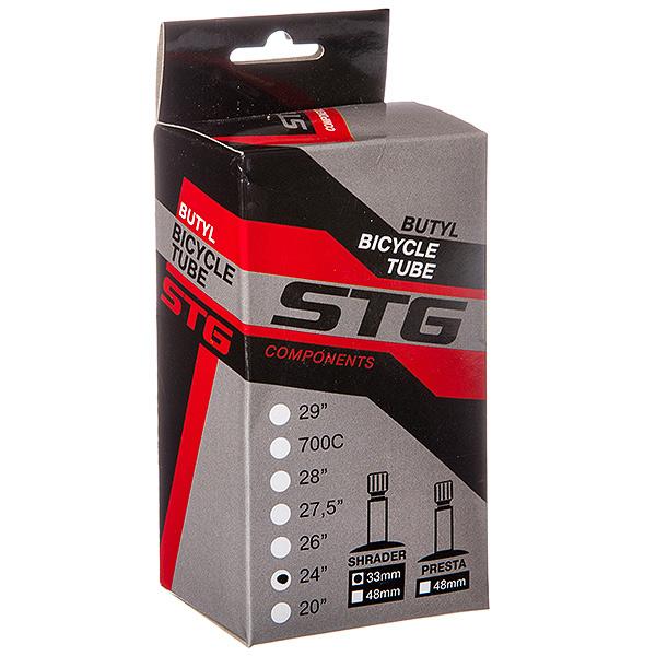 127296 2 - Камера велосипедная STG, бутил ,24Х1,95/2,125 ,автониппель 33мм (упак.: коробка)