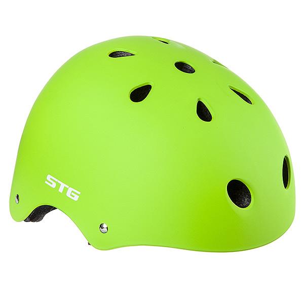 127476 2 - Шлем STG , модель MTV12, размер  M(55-58)cm салатовый, с фикс застежкой.