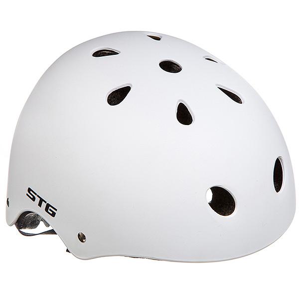 135680 2 - Шлем STG , модель MTV12, размер  M(55-58)cm белый, с фикс застежкой.