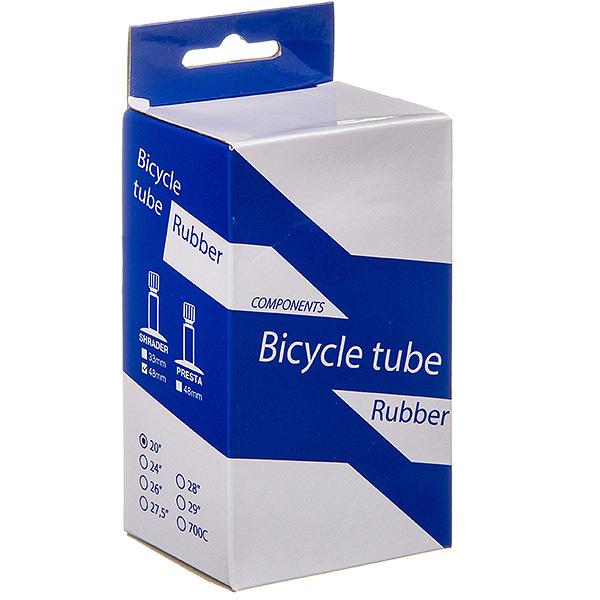 135825 2 - Камера велосипедная BT, резина,20Х1,95/2,125 ,автониппель 48мм (упак.: коробка)