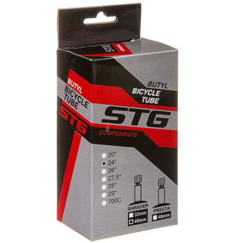 135826 2 350x350 - Камера велосипедная STG, бутил,24Х1,75/1,95 автониппель 48мм (упак.: коробка)