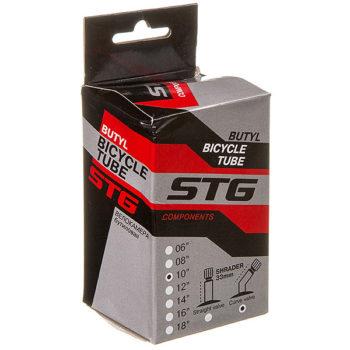 135829 2 350x350 - Камера велосипедная STG, бутил,10Х1,95/2,25, изогнутый автониппель 33мм  (упак.: коробка)