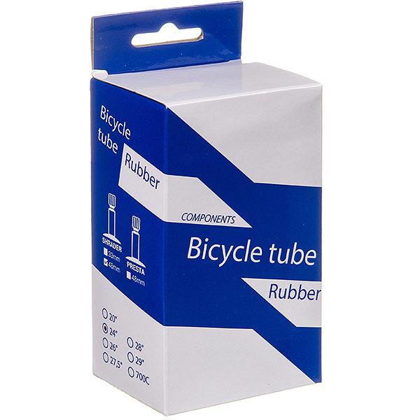 135830 2 - Камера велосипедная BT, резина ,24Х1,75/1,95 ,автониппель 48мм  (упак.:коробка)