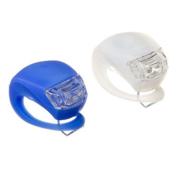 135856 2 350x350 - Набор силикон.фонарей STG, BC-RL8001, 2 бел и 2 красн диода, 3 функции, бат: CR2032*2/шт белый/синий