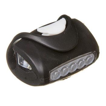 135859 2 350x350 - Фонарь велосипедный силиконовый STG 5 диод. BC-RL8010 черный