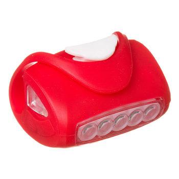 135860 2 350x350 - Фонарь велосипедный силиконовый STG 5 диод. BC-RL8010 Красный