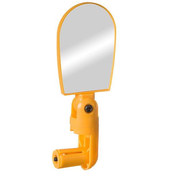 135886 2 - Зеркало  для велосипеда  BC-BM101 c крепление в руль. С рег. Угла.Желтое