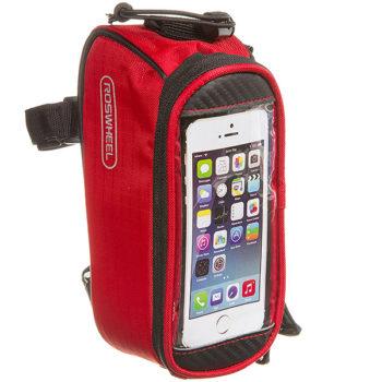 135903 2 350x350 - Велосумка Roswheel мод. 12496S-CC5 на раму, для телефона размер S Красная