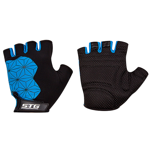 135912 2 - Перчатки STG Replay unisex   черно/син. размер L