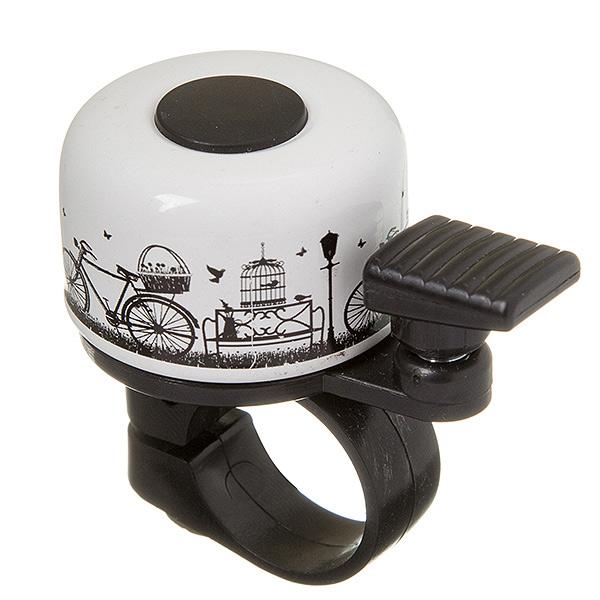 135931 2 - Звонок STG 11R-B  картинка с велосипедом.