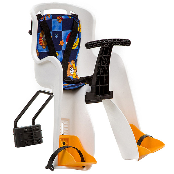 136005 2 - Кресло детское переднее GH-908E белое с разноцветным текстилем