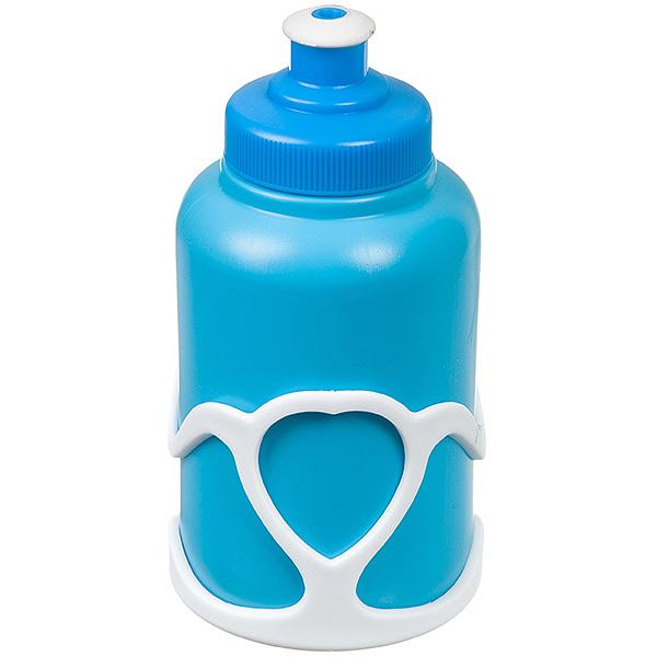 136022 2 - Велофляга STG с флягодержателем детская (Белый Флягодержатель, Синяя фляга).