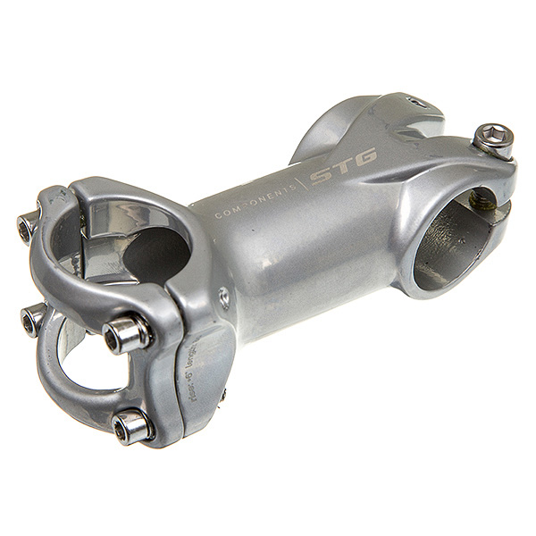 136360 2 - Вынос STG RA-635 80 мм под руль 31,8мм серебристый