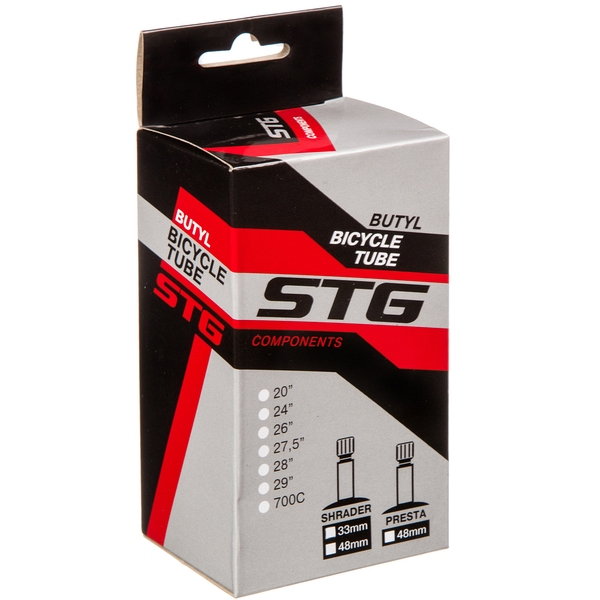 140457 2 - Камера велосипедная STG, бутил ,26Х1,95/2,125 ,автониппель  33мм (упак.: коробка)