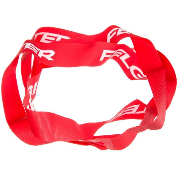 """140480 2 - Лента ободная красная с белым логотипом для 20"""""""