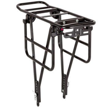 """141194 2 350x350 - Багажник для велосипеда 26-28"""", задний CD-266,серебр, под диск, с функц. Расширения платформы."""