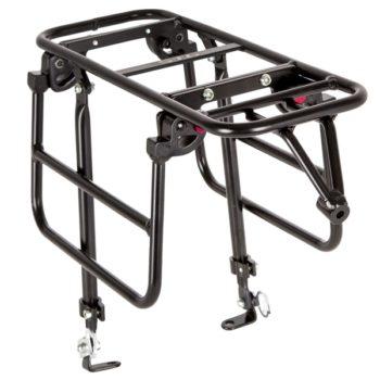 """141195 2 350x350 - Багажник для велосипеда 26-28"""", передний  CD-266F,серебр, под диск, с функц. Расширения платформы."""