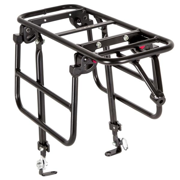 """141195 2 - Багажник для велосипеда 26-28"""", передний  CD-266F,серебр, под диск, с функц. Расширения платформы."""