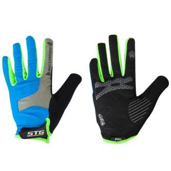 141280 2 350x350 - Перчатки STG AL-05-1871 синие/серые/черные/зеленые   полноразмерные  L